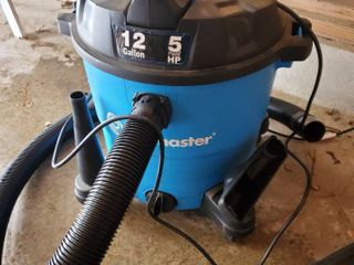 Blue VacMaster  12 Gallon  5Peak HP Blower Vac  with 4 Heads and Extension Pieces