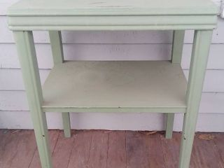 Wooden End Table Home Decor   Green