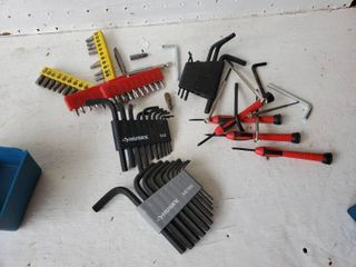 lot of Allen Wrenches   Drill Bits