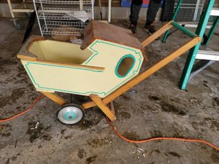 Wooden Antique Doll Buggy