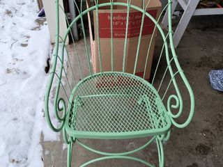 lime Green Iron Rocking Patio Chair
