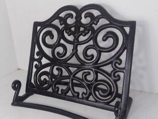 Heavy Duty Metal Book Stand Holder   Black