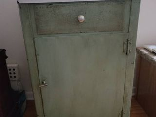 Antique Green Metal Surgical Table
