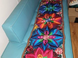 Hand Woven Mexican Floral Kitchen Table Runner