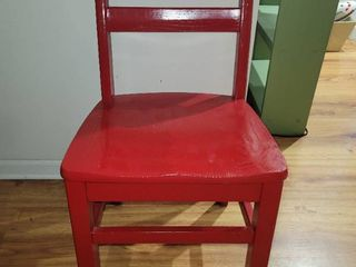 Fire Engine Red Wooden Student Chair