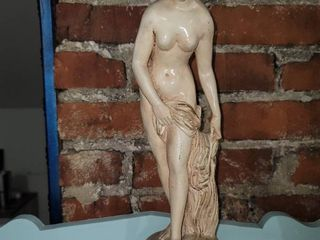Bisque Woman s Statue