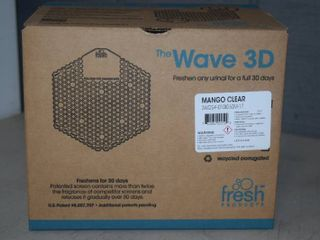 10 Wave 3D Mango Clear Urinal Screens