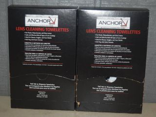 200 Anchor Anti Fog lens Cleaning Towelettes   Individually Packaged