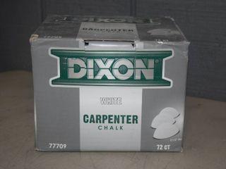 2 Boxes Dixon White Carpenter Chalk   72 Count