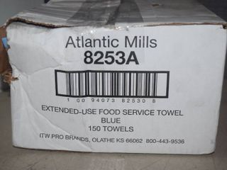 150 Atlantic Mills Extended Use Food Service Towels   Blue