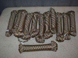 12 Spools of Paracord 50 Feet Each