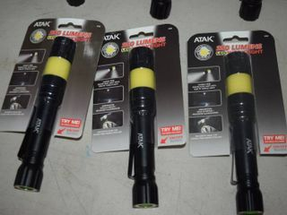 6 Atak 250 lumen lED Flashlights with Magnetic Base   Batteries Included