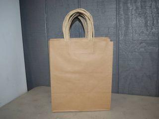 100 Kraft Shopping Bags 10  x 11 5  x 7