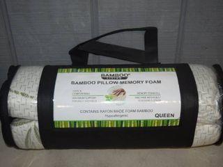 Bamboo living Queen Size Shredded Memory Foam Pillow