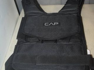 Cap Weight Vest   Will hold 20 Pounds of Weight