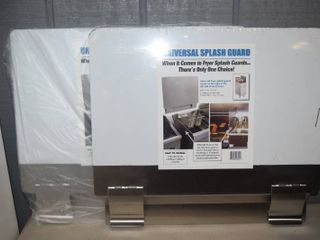 2 Universal Splash Guards for Commercial Deep Fryer