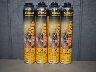 4 Cans DeWalt Trigger Foam Pro Fire Block Spray Foam