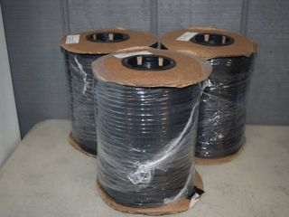 3 Spools Taylor Made Black Polyester 649 Binding 7 8  x 300 yards   Boat Cover Binding and Strap Material