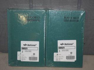 6 National Emerald Series Account Books