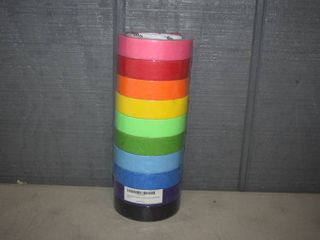 10 Rolls Colored Masking Tape