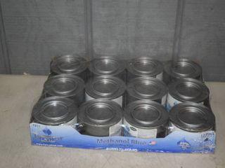 12 Pack FancyHeat Methanol Blue Gel Chafing Fuel
