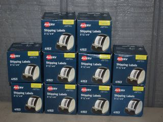 10 Rolls Avery 4153 Shipping labels for Dymo