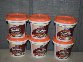 6 Jars Elmers Color Change Wood Filler