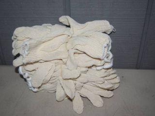 12 Pair Cotton Work Gloves