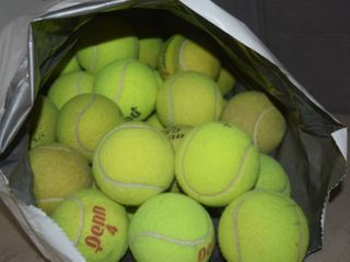 50 Tennis Balls   Various Brands