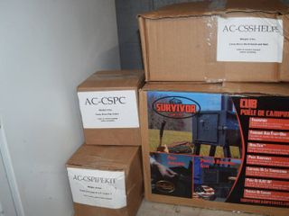Survivor Heat and Cook Camp Stove with Extras