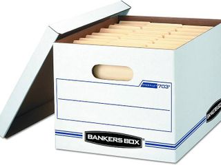 20 Pack Bankers Box Storage Box with lift Off lid   legal letter 12  x 10  x 15