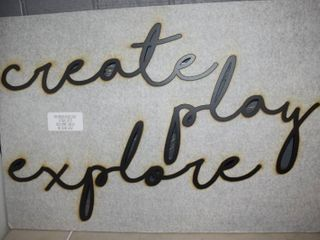 Wall Decor   Words come off of this board to hang on wall   6  tall