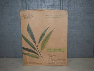 2 Rolls Seedling by Grove Bamboo Paper Towels