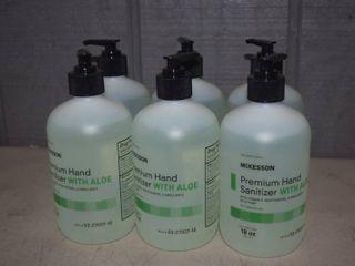 6 Bottles McKesson Premium Hand Sanitizer with Aloe