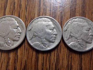 3 BUFFAlO NICKElS