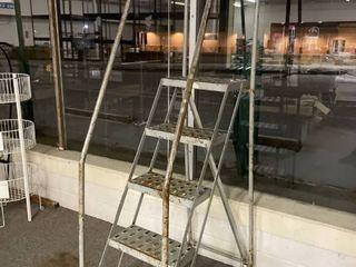 5 Step Industrial Rolling ladder   High Dollar Item