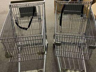 2  Shopping Carts   Both Need Repair