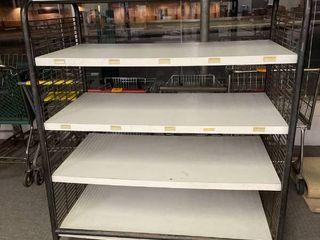Rolling Storage Shelf   Adjustable Shelves   49  Wide  28  Deep  59  Tall