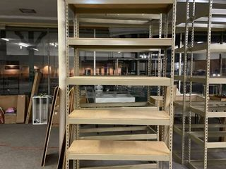 Steel Shelving   9 Feet Tall  48 5  Wide  18 5  Deep   7 Adjustable Shelves   EXPENSIVE