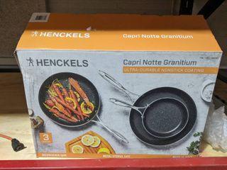 2 pans have been used Henckels Capri Notte Granitium 3 piece Fry Pan Set  Nonstick Coating