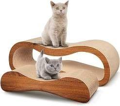 Scratchme 2 In 1 Cat Scratcher Cardboard lounge Bed Cat Scratching Post