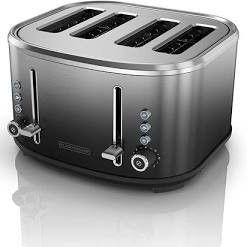Black decker 4 slice Extra wide Slot Toaster  Stainless Steel