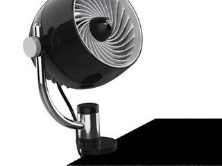 Vornado Pivot3C Personal Air Circulator Portable Fan with Multi Surface Clip Black