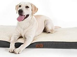 Bedsure large Dog Bed for Small  Medium  large Dogs Cats Up to 75 lbs   Orthopedic Egg Crate Foam with Removable Washable Cover   Water Resistant Pet Mat for Crate  Grey