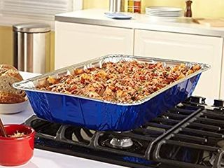 Reynolds Disposable Giant Aluminum Foil Pasta Pans 20 X 12 Inch  3 Count