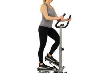 Sunny Health Fitness Twist Stepper Step Machine with Handle Bar and lCD Monitor  250 lB Max Weight   NO  059