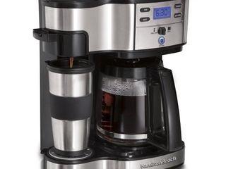 Hamilton Beach 49980A 2 Way Single Serve Brewer and Coffee Maker