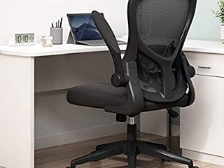 Hbada Office Chair  Ergonomic Desk Chair  Computer Mesh Chair with lumbar Support and Flip up Arms Black