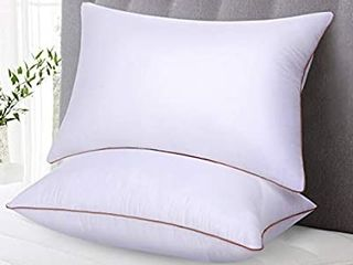 OVX Pillows for Sleeping  Set of 2  Hypoallergenic Gel Hotel Pillows Down Alternative  High Firm Support for Side Back Sleeper  King