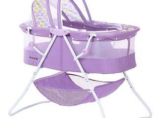 Dream on Me Karley Bassinet  Periwinkle Purple